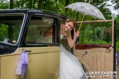 Svatební foto s veteránem