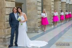 Svatební fotografie s družičkama Hranice na Moravě