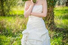 pózující nevěsta, fotografie nevěsty