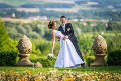 Svatba a svatební fotografie zámecký park Veselíčko