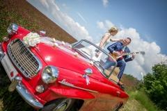 auto veterán na svatbě