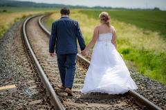focení svatby na kolejích