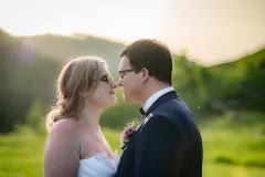 focení svatby při západu slunce
