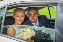 svatební novomanželé v autě, fotografie, focení, photo,