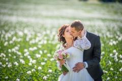 svatba, focení, vlčí mák, rozkvetlá louka