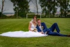 svatba na fotbalovém hřišti