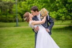 svatební focení v parku Lipník nad Bečvou