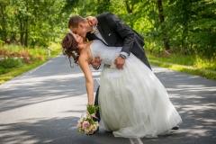 svatební foto na cestě