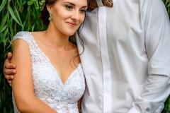 svatební póza u vrby
